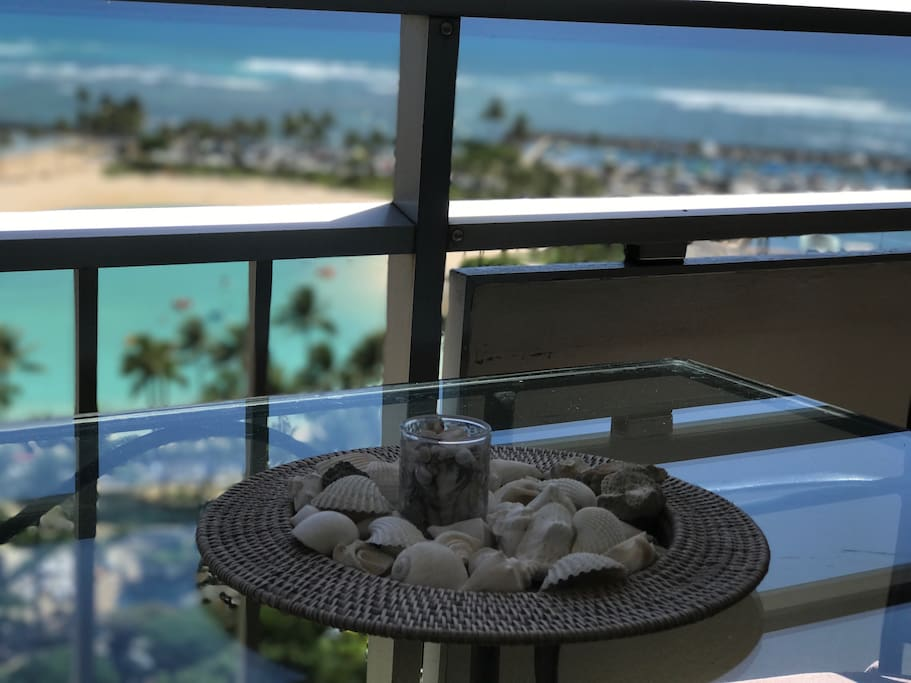 Enjoy ocean and lagoon views from the lanai!