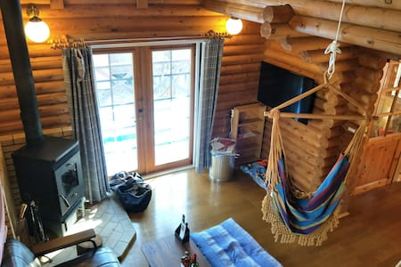 【Fireplace and hammock and 100 inch movie】Heidi