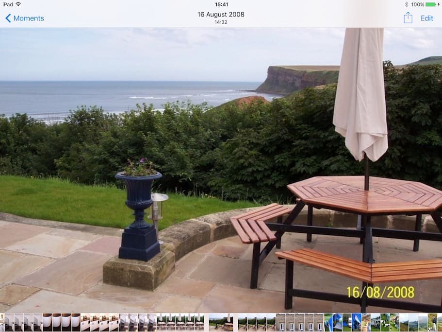 view from outdoor seating area