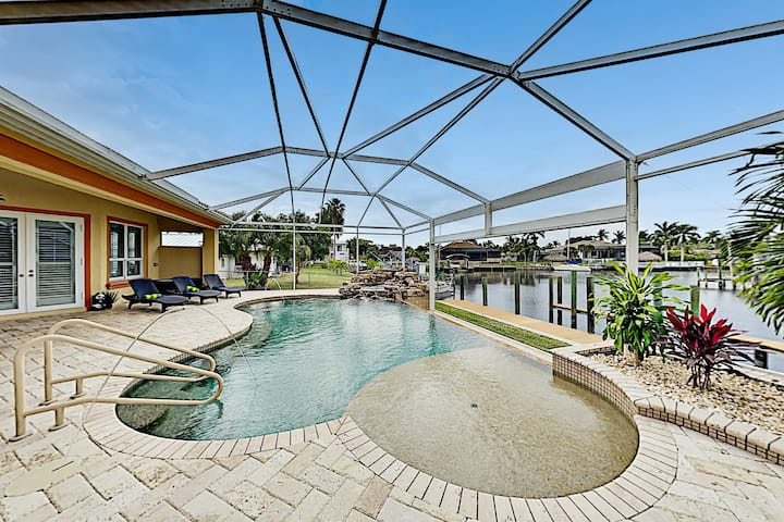 Waterfront Home | Pool, Spa & Dock with Gulf Access