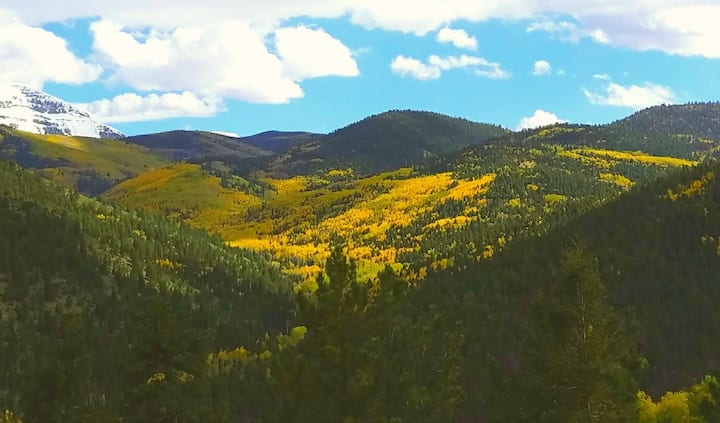 See Spectacular Fall Colors from a Private Cabin