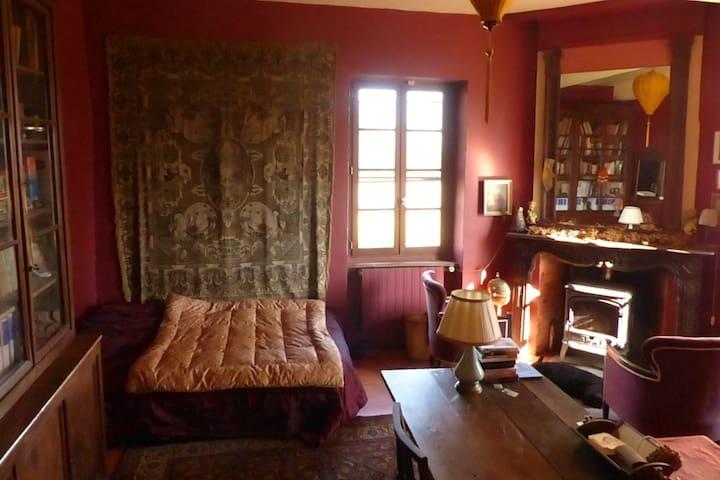 Grande chambre paisible dans maison de caractère - Montaut - House