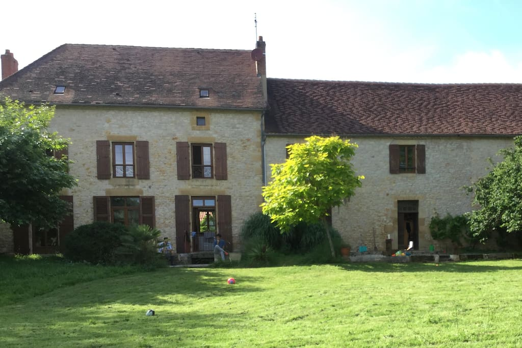House from the garden with the Gite to the right