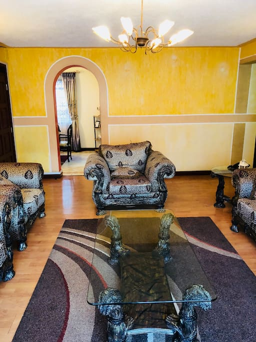 Living area with Royal 7 seater, Flat screen TV, Home theatre, DVD player, WiFi - relax and lounge with the family