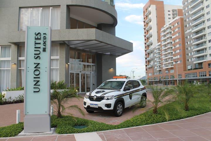 Entrada do Edifício Union Suites!
