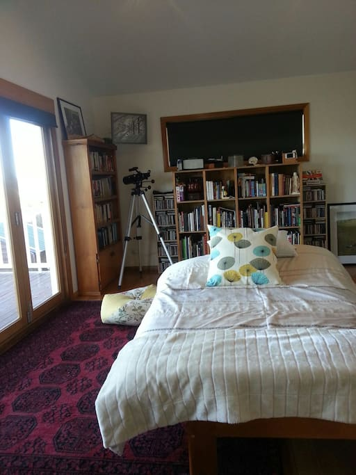 Large room with double bed (with Japanese style futon mattress).