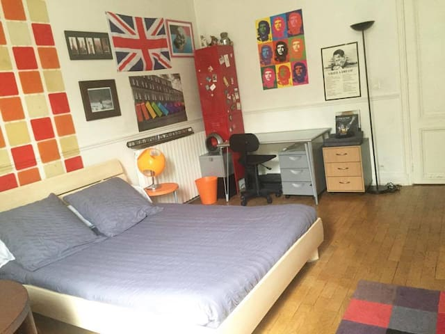 Room in a beautiful apartment Rive Gauche/Sorbonne