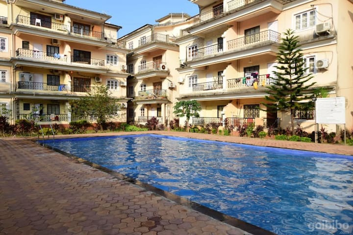 Comfy 2 X 2BHK AC Apartments wit Pool in Calangute