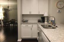 Kitchen, into Dining Room