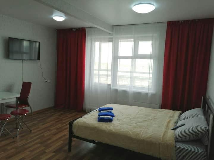 Уютные апартаменты с шикарным видом на Енисей.