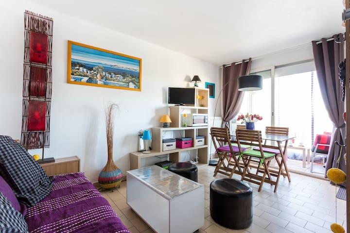 Studio cosy tt confort 4 pers + bébé, plage à 200m