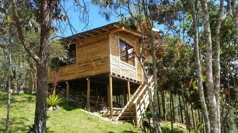 Cabaña Rustica en madera para descanso total
