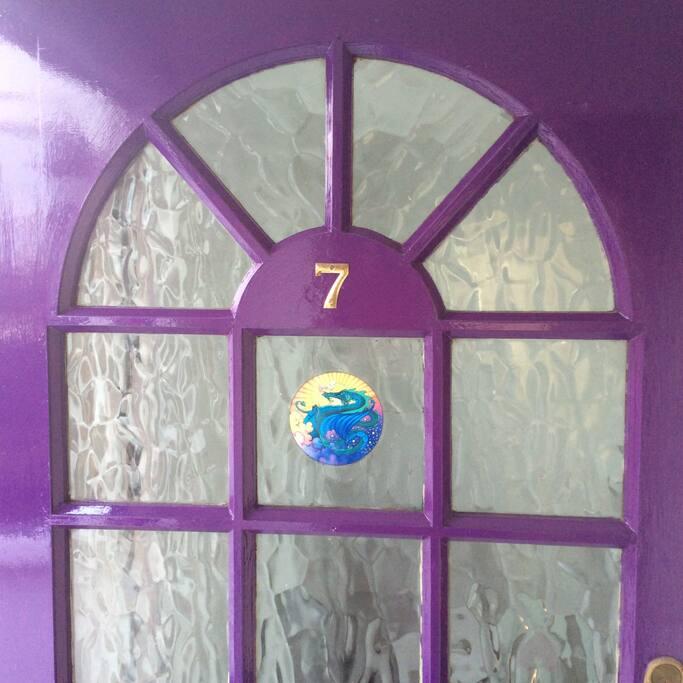 Our front door to 7 Sistars Retreat House