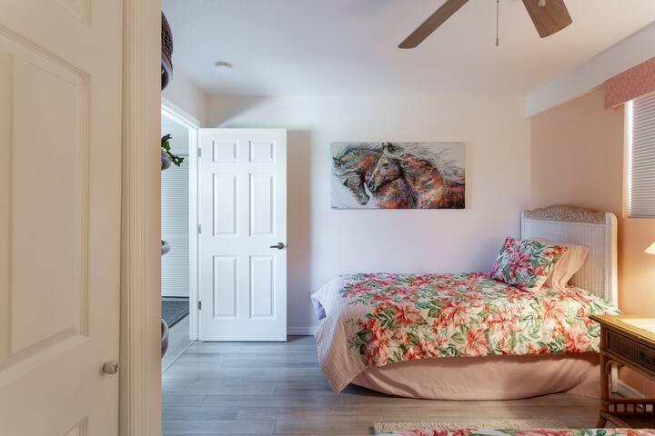 Roomy twin bed room
