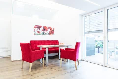 Neues Apartment mit XL-Terrasse und WLAN