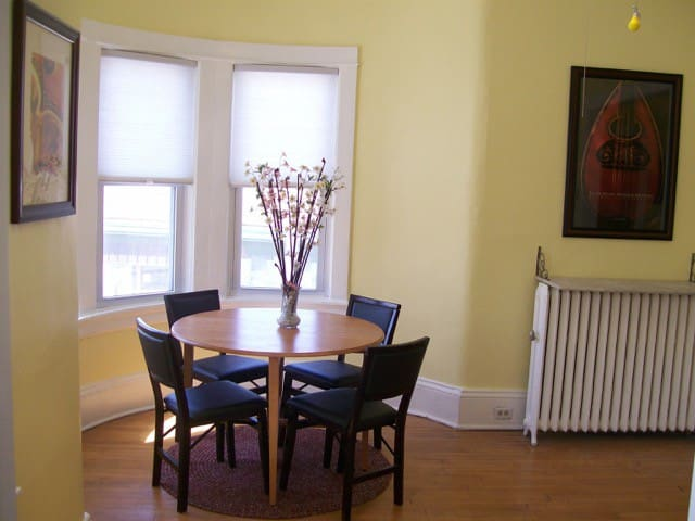 Lots of natural light for meals or sharing