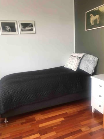 80x200 cm bed in the room