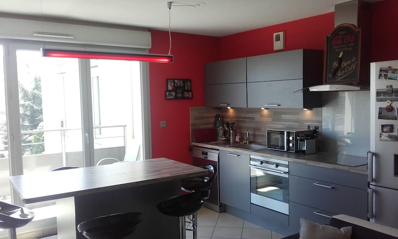 Bel appartement-Beautiful apartment-residence 2010 - Saint-Priest - Apartment