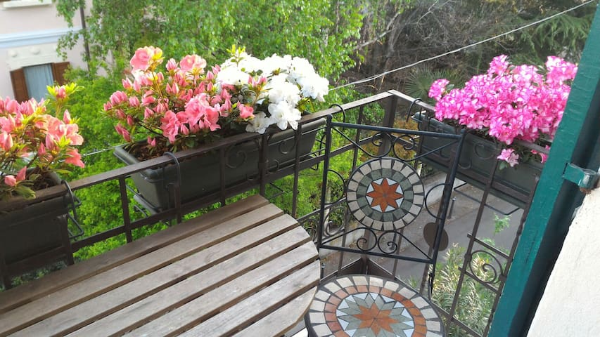 Our little balcony... one of my favourite places of La Casita!