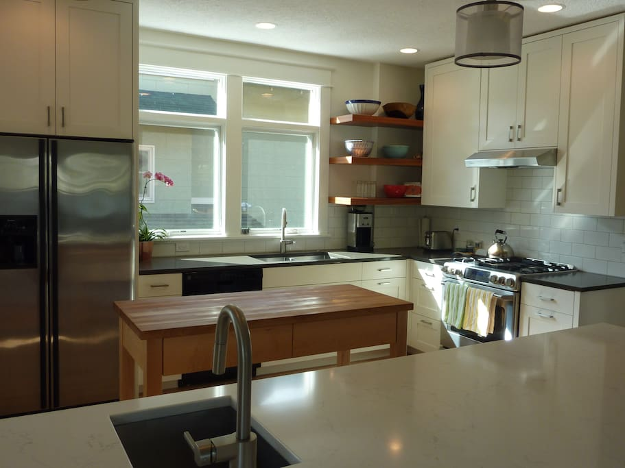 Newly remodeled modern kitchen for making great meals or just a good cup of coffee