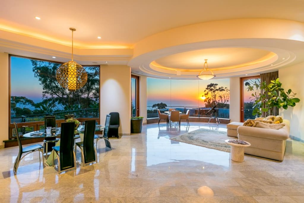 Expansive ocean views from almost all interior rooms. Inside/outside flow is spectacular.