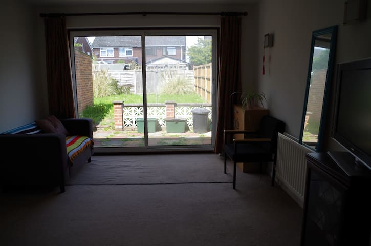 quiet double room, near university