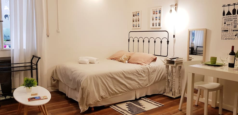 Beautiful location, quiet studio center Recoleta!!