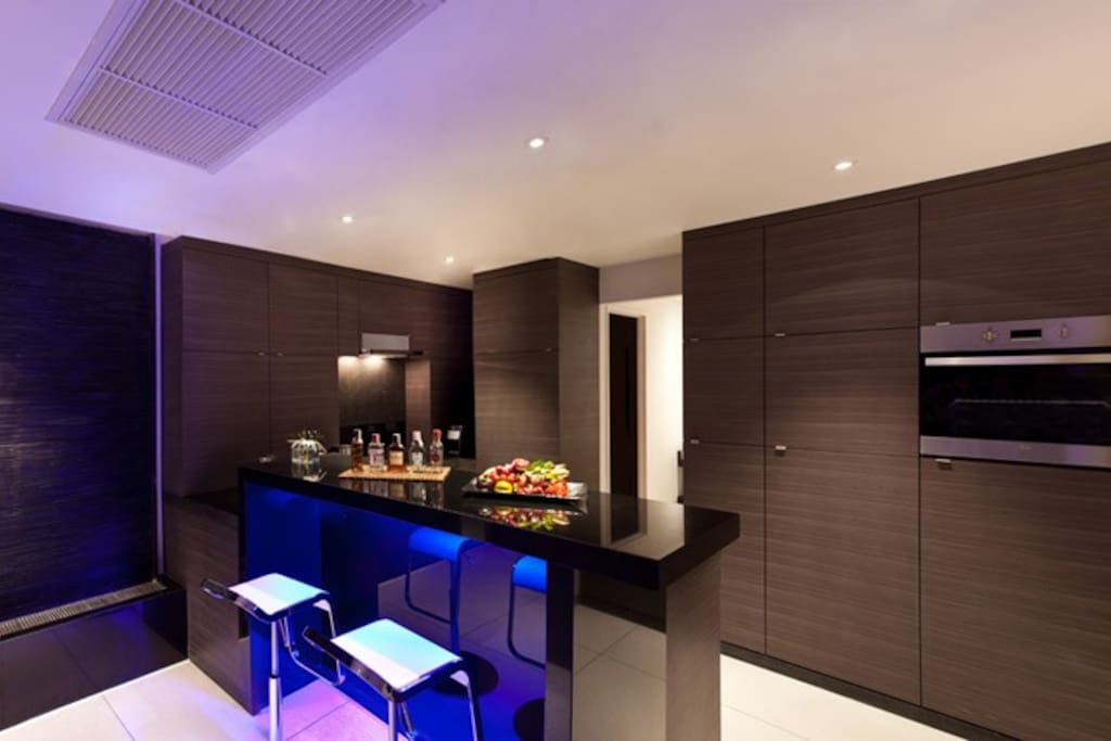 a state-of-the-art modern kitchen fully equipped