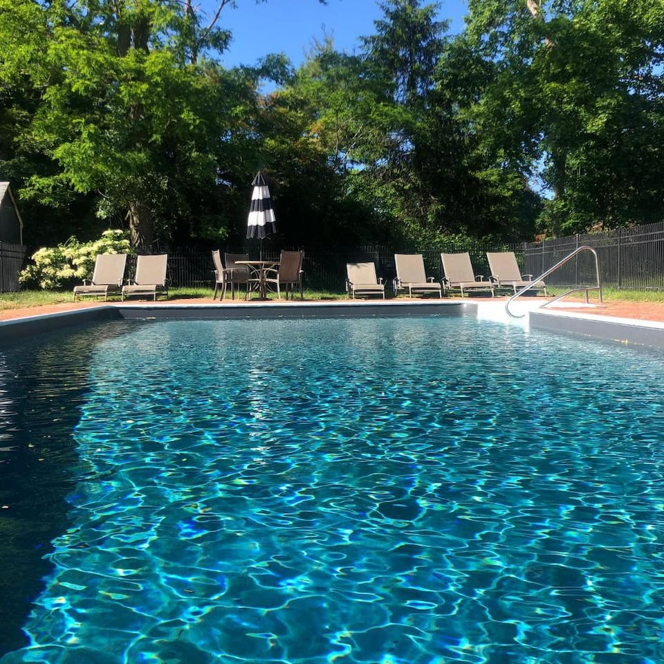 Hampton Summer Home with Heated Pool surrounded by enchanting landscape. Very close to Westhampton beach and town. A great place to make memories with friends and family, weather you wish to stay at home or explore the many activities and places.