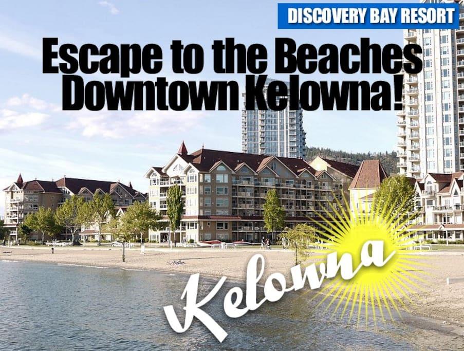 Downtown Kelowna at Tugboat Beach