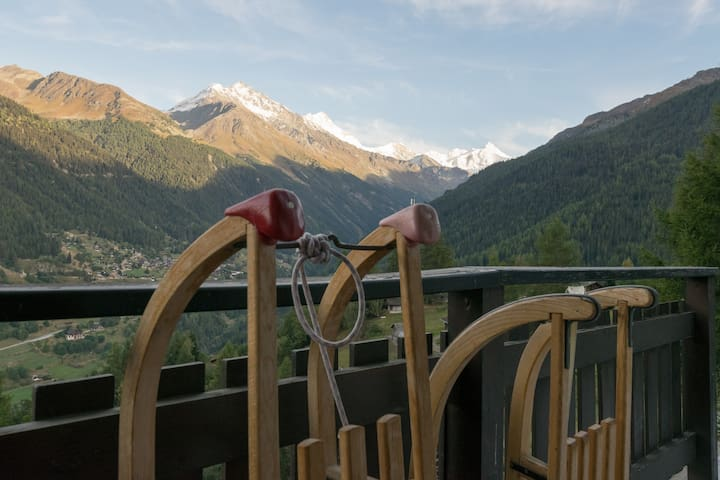Cosy 6-people flat w splendid view - Grimentz - Apartment