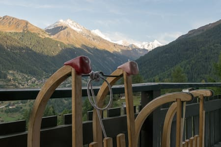 Cosy 6-people flat w splendid view - Grimentz