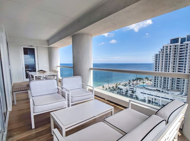 Balcony - Southwest facing with Intracoastal and ocean views