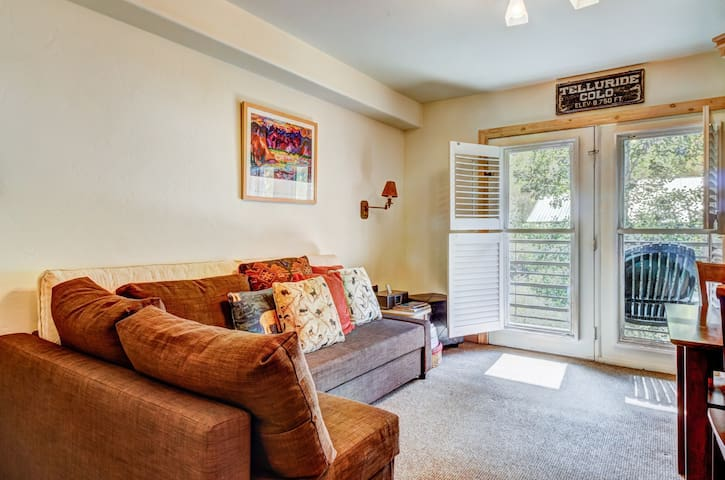 Lovely riverfront condo w/ shared pool & hot tub - in town & near the slopes!