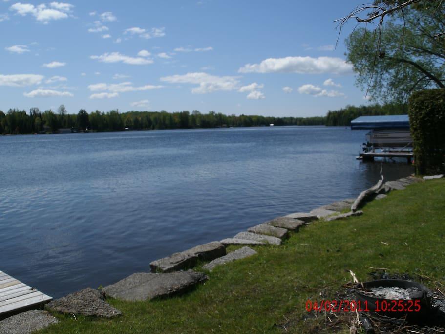 looking towards the mouth of Balsam Lake