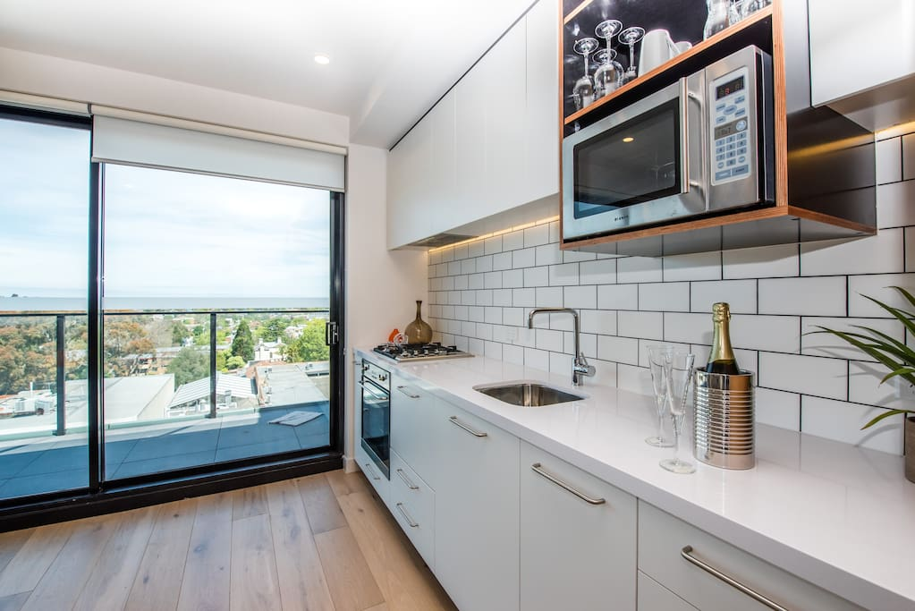 Enjoy preparing a meal in the brand new kitchen