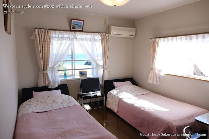 Sea View Bed Room #202 with Shower and Toilet
