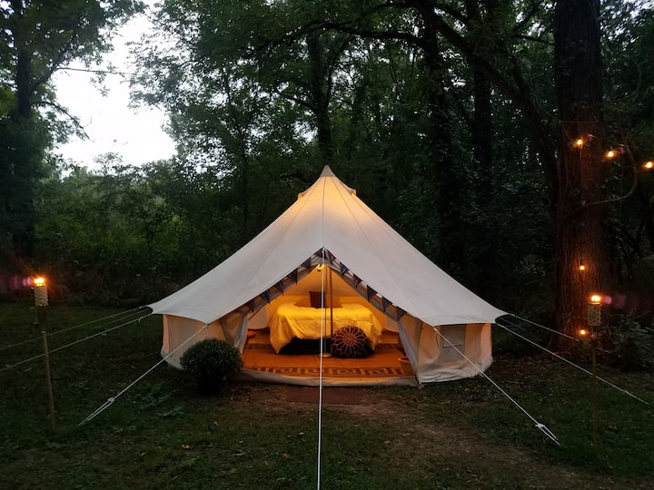 Kings River 16ft. Bell Tent w/Riverfront Access