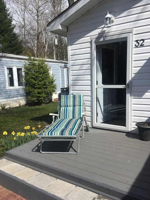 Relax and catch some sun on the lower deck.