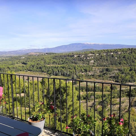 Provence village home with views of Mont Ventoux