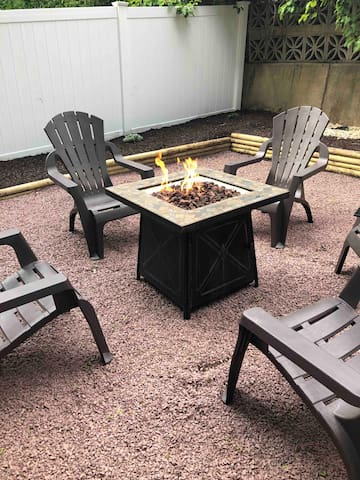 Back yard fire pit area