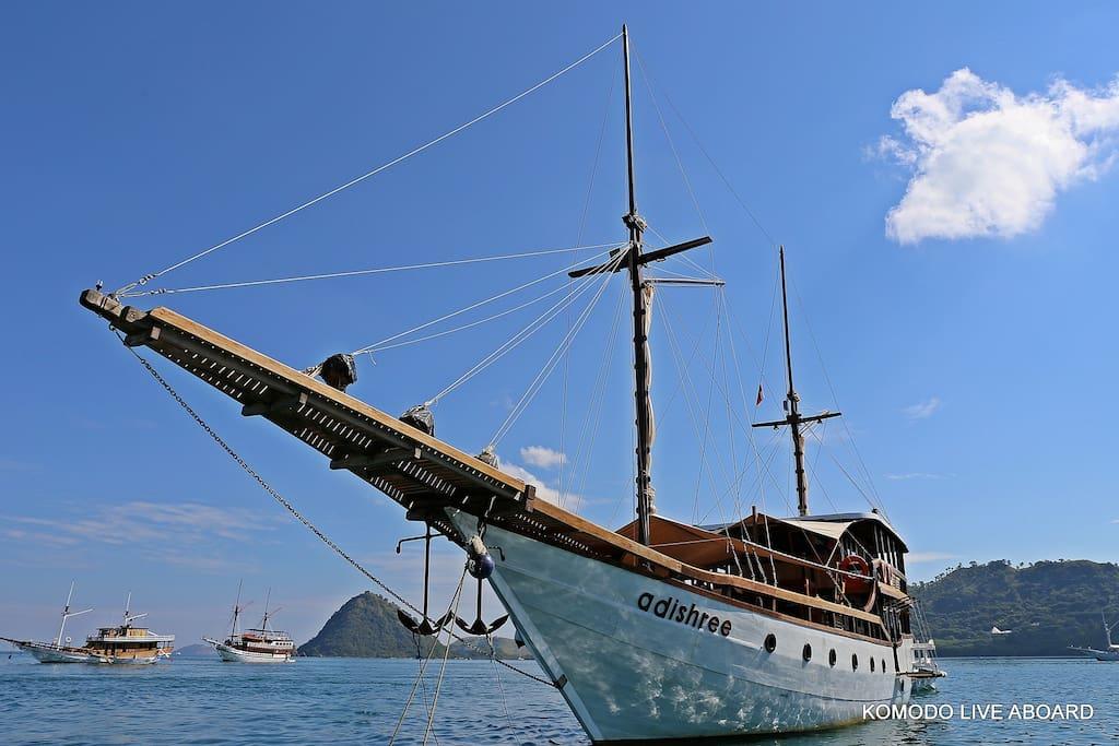 Phinisi sailboat.