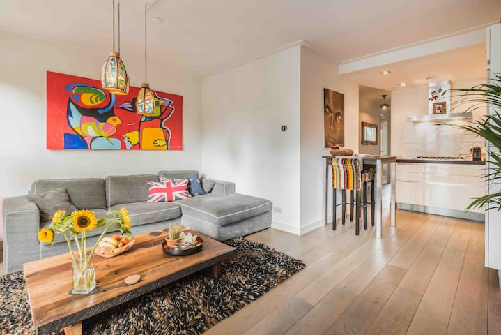 Spacious modern canal home + private roof terrace