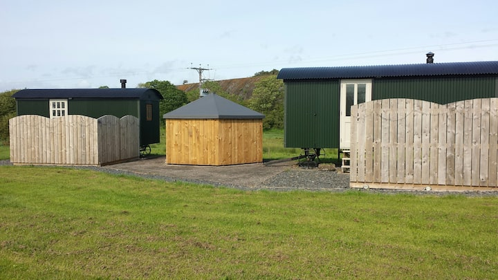No 1 Priory Shepherd's Huts (With private hot tub)