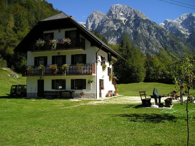 Room Jelka with balcony and mountain views - Trenta - Casa