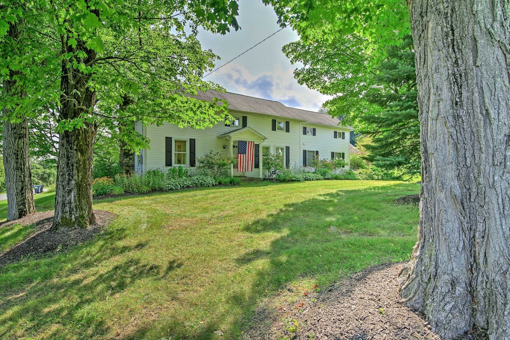 Discover Upstate N.Y. from this serene 3-bedroom, 2-bath vacation rental home.