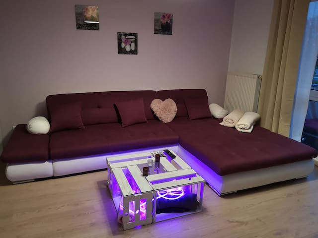 One couch in a modern appartement