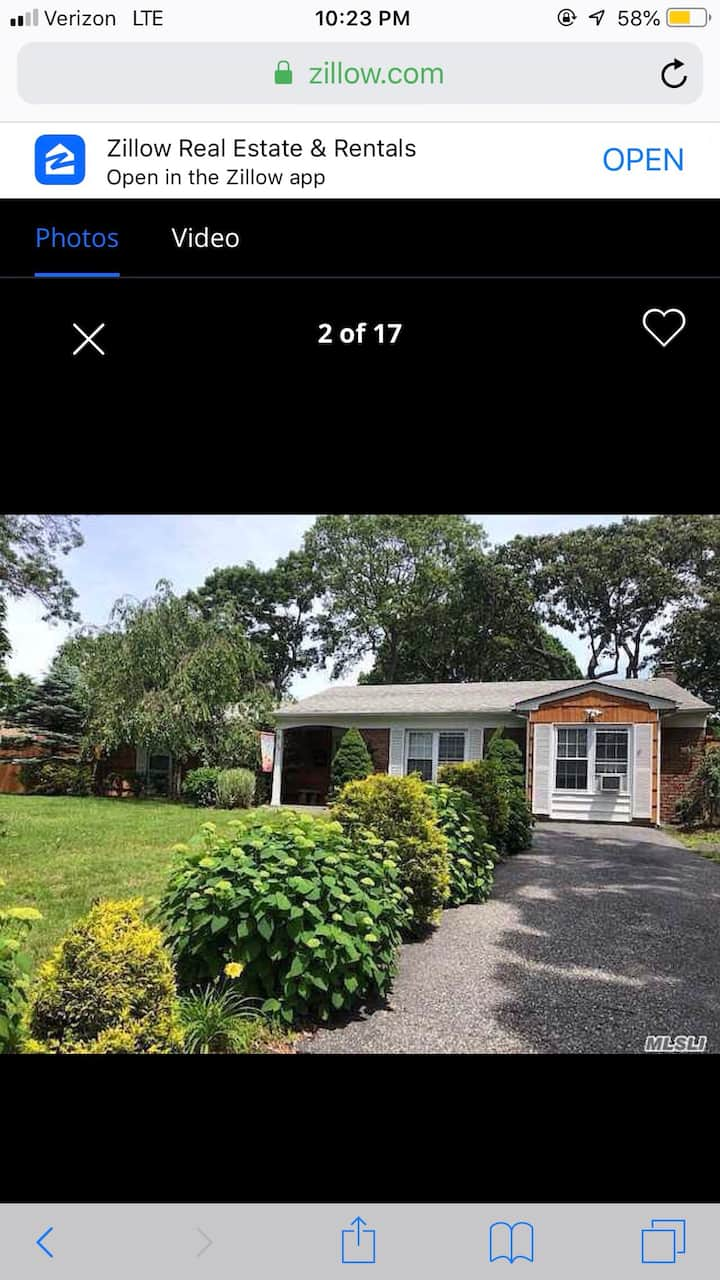 House is an hour from NYC and the Hamptons