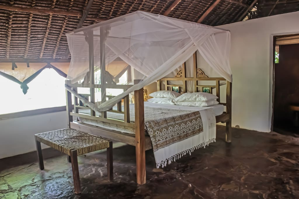 Get a perfect nights rest in our Lamu style queen sized bed.