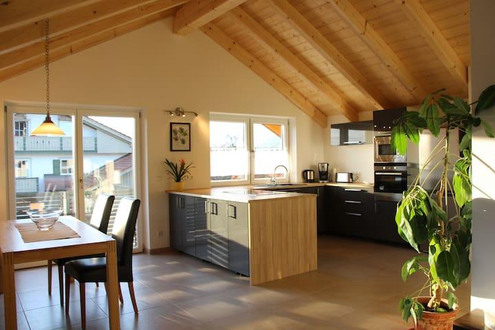 100qm OG Neubauwohnung bei Murnau - Eglfing-Tauting - Apartment